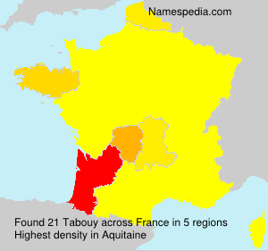Surname Tabouy in France