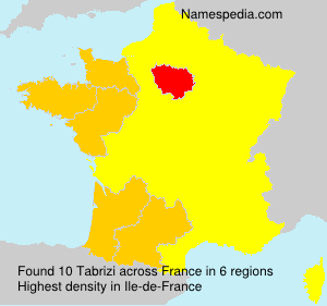 Surname Tabrizi in France