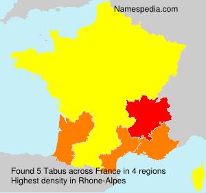 Familiennamen Tabus - France