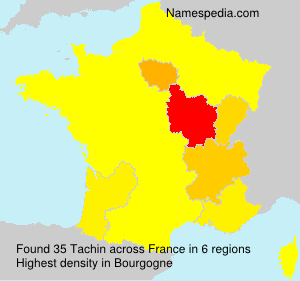 Surname Tachin in France