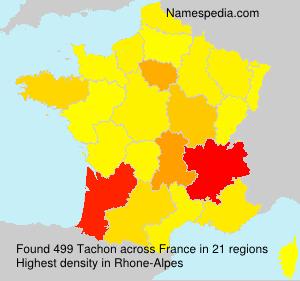 Familiennamen Tachon - France