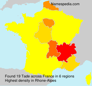 Surname Tade in France