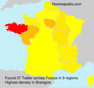 Surname Tadier in France