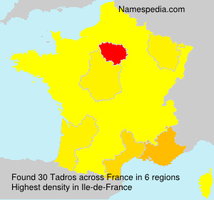 Surname Tadros in France