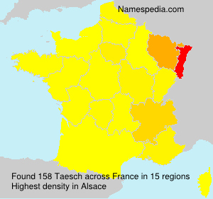 Surname Taesch in France