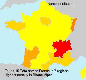 Surname Tafa in France
