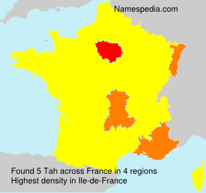 Surname Tah in France