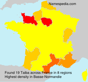 Surname Taiba in France