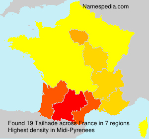 Surname Tailhade in France