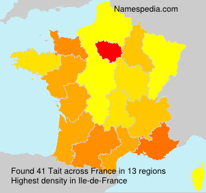 Surname Tait in France