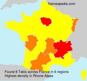 Familiennamen Takis - France