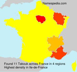 Familiennamen Takouk - France