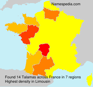 Surname Talamas in France