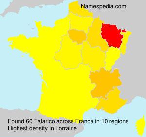Familiennamen Talarico - France