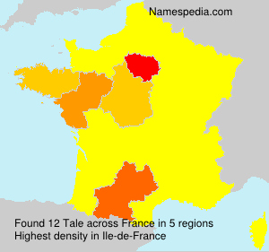 Surname Tale in France