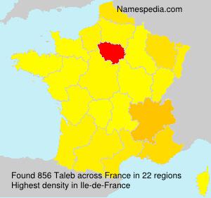 Surname Taleb in France