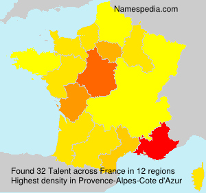 Surname Talent in France