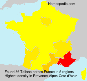 Surname Taliana in France