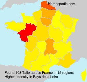 Familiennamen Talle - France