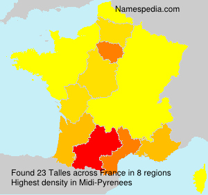 Familiennamen Talles - France