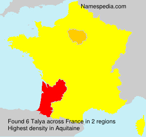 Surname Talya in France