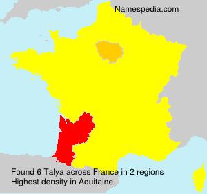 Surname Talya in France
