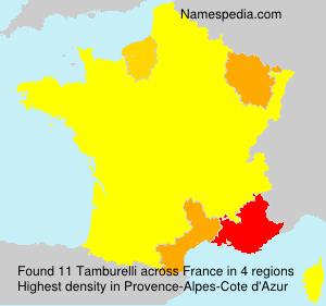 Surname Tamburelli in France