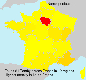 Surname Tamby in France