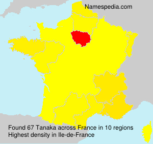 Surname Tanaka in France