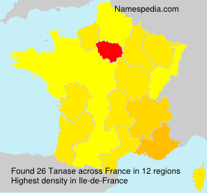 Surname Tanase in France