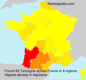 Surname Tancogne in France