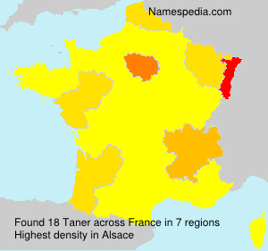 Surname Taner in France