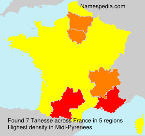 Surname Tanesse in France