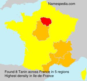 Familiennamen Tanin - France