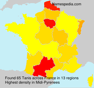 Surname Tanis in France