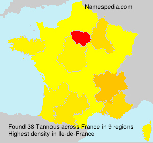 Surname Tannous in France