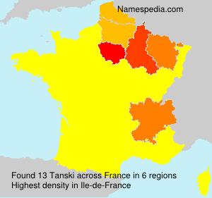 Familiennamen Tanski - France