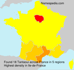 Surname Tantaoui in France