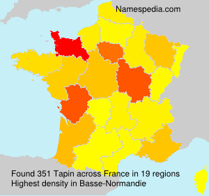 Surname Tapin in France
