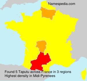 Surname Taputu in France