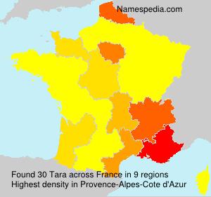 Familiennamen Tara - France