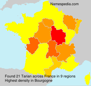 Surname Tarian in France