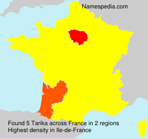 Surname Tarika in France