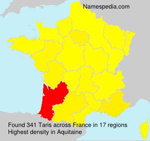 Surname Taris in France