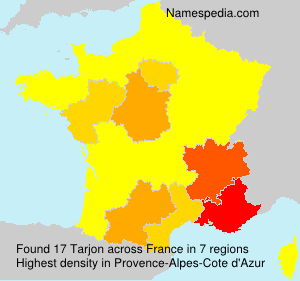 Surname Tarjon in France
