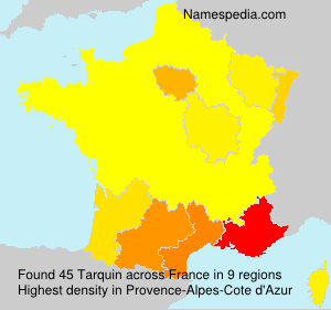 Surname Tarquin in France