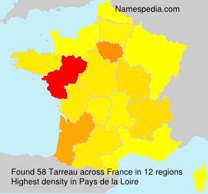 Familiennamen Tarreau - France