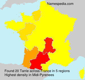Surname Tarrie in France