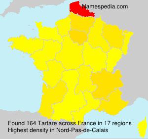 Familiennamen Tartare - France