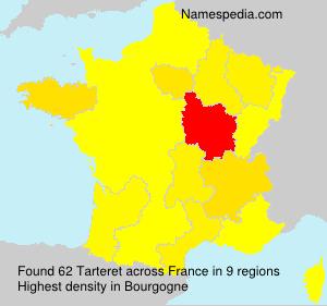 Surname Tarteret in France